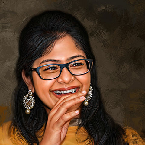 Self Digital Portrait Painting by Oilpixel