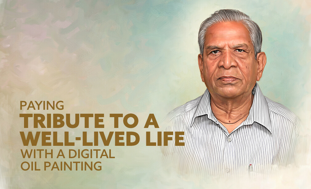 Paying tribute to a well-lived life with a digital oil painting