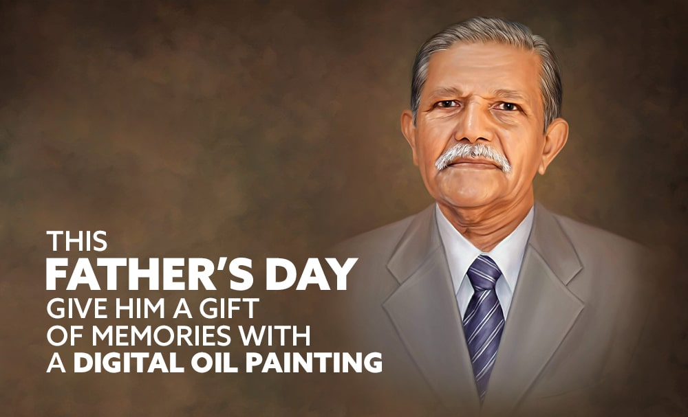 Give him a gift of memories with a Digital Oil Painting this Father's Day!