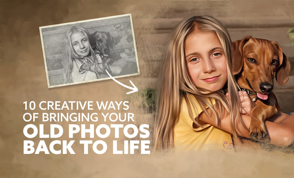 10 creative ways of bringing your old photos back to life