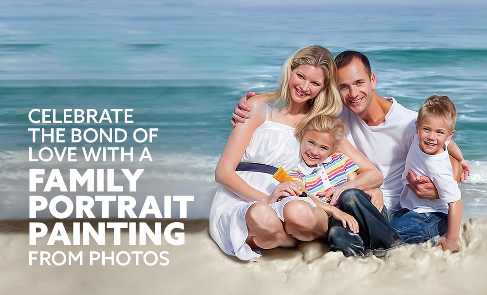 Celebrate the bond of love with a Family Portrait Painting from Photos